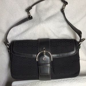 Coach Signature Jacquard purse in Triple Black
